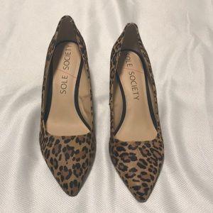 Sole Society Cheetah Print Wedges